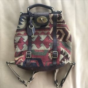 Fossil Aztec printed bagpack